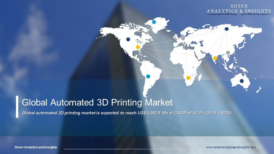 Global automated 3D printing Market CAGR Forecast 2018 - 2025 Sheer Analytics and Insights