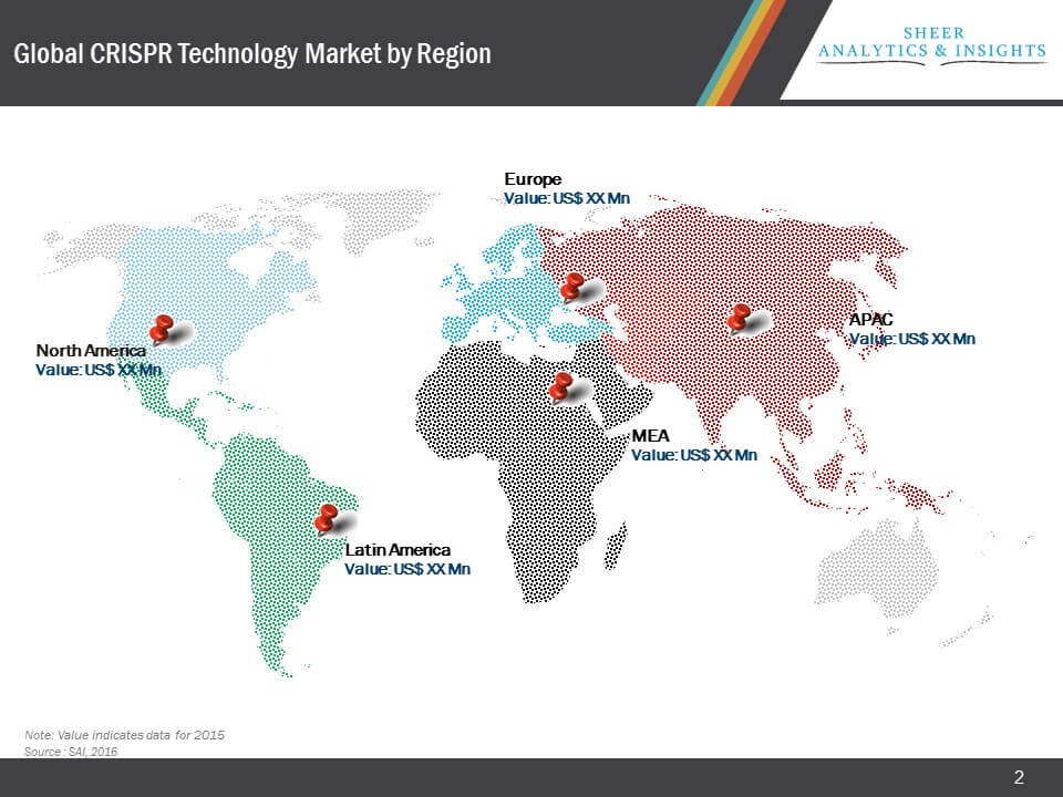 Global CRISPR Technology Market Segmentation by Geography Region.JPG