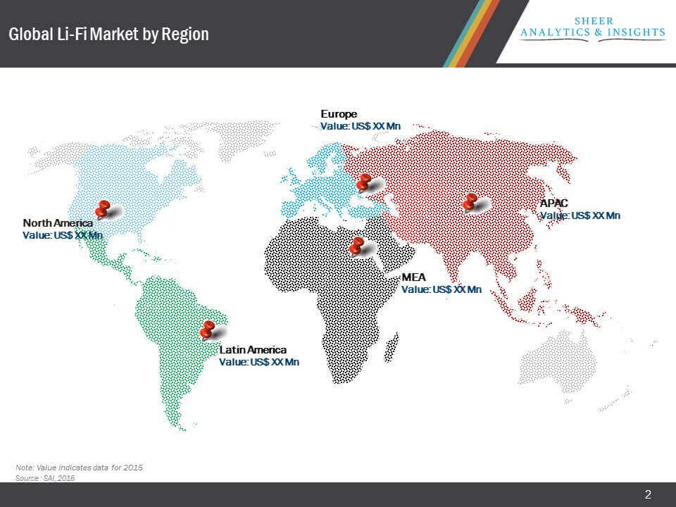 Global Li-Fi Market Segmentation by Geography