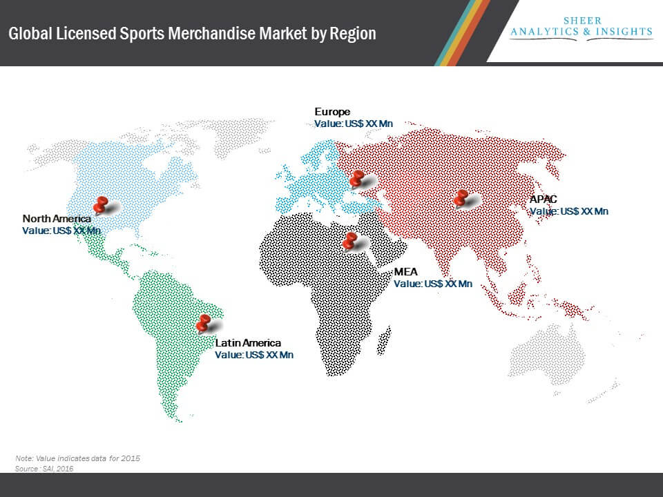 Global Licensed Sports Merchandise Market Segmentation By Geography